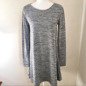 Old Navy Gray Heathered Shirt Dress